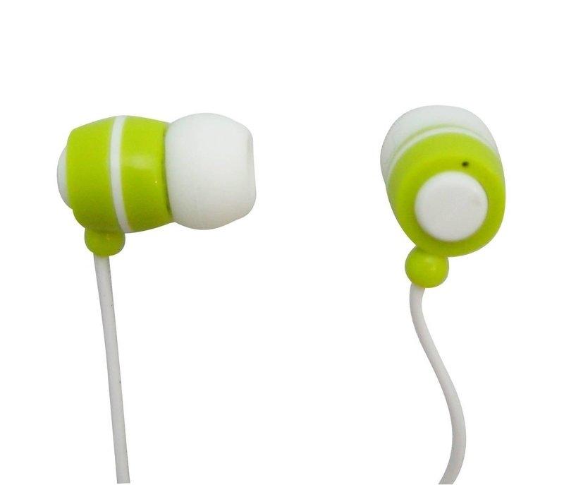 【迪特軍3C】JS 淇譽電子 耳塞式迷你耳機 (HAS011) 白綠色