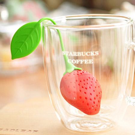 可愛草莓造型泡茶器 矽膠泡茶器 水果茶葉包 茶隔 茶葉過濾器【N202247】