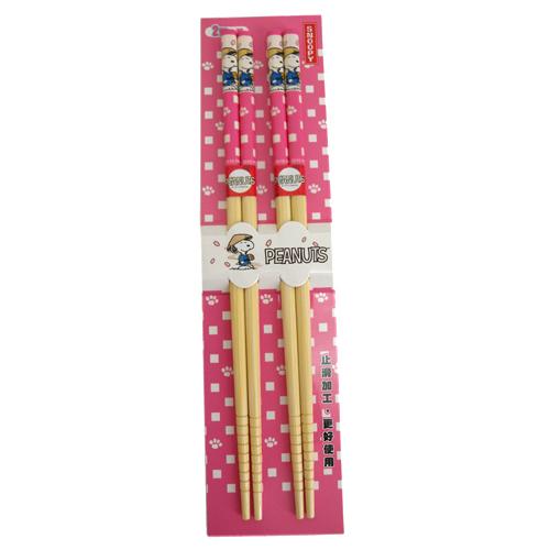 【真愛日本】150911000202入竹筷-櫻花粉  史奴比 史努比 SNOOPY  筷子  食器  日用品