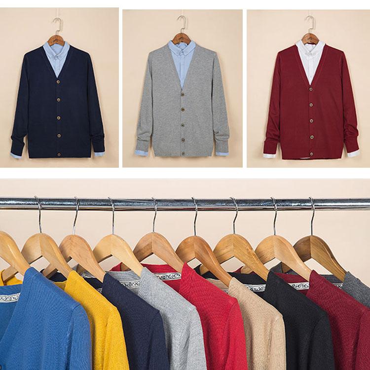 Mao 【優惠!任搭2件888專區】 日系新品百搭純色針織款休閒商務薄款針織外套