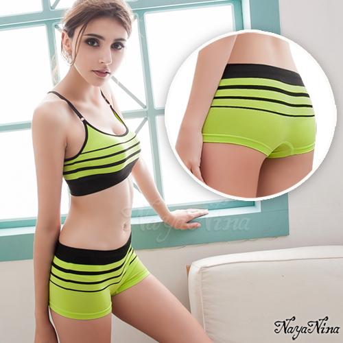 旋律!超彈力無縫中低腰平口褲S-XL(黃綠) 運動型內褲 情趣用品