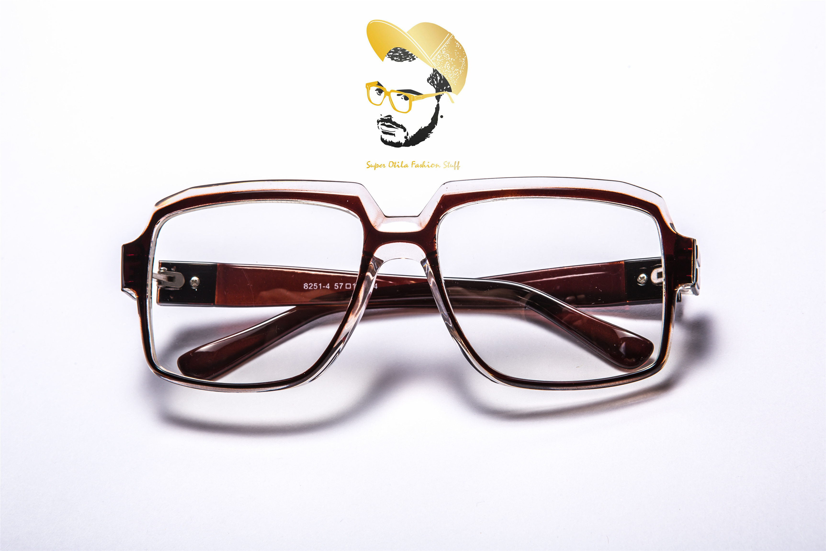 太陽眼鏡 墨鏡 眼鏡  韓國 super otila 【8251】厚實手感-眉骨框