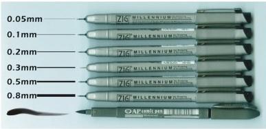 《☆享亮商城☆》M0911-1 漫畫工具-塗黑專用筆   AP