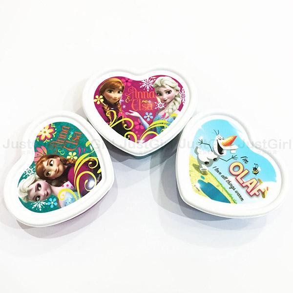 冰雪奇緣 艾莎 ELSA 安娜 ANNA 心型 便當盒 保鮮盒 3入300ml 餐具 正版日本製造進口 JustGirl