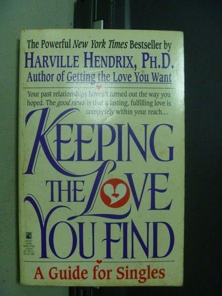 【書寶二手書T3/原文小說_OGY】Keeping the Love You Find