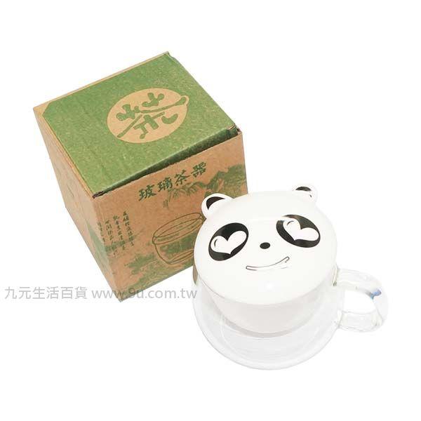 【九元生活百貨】Q熊貓濾茶杯 沖茶杯 玻璃杯