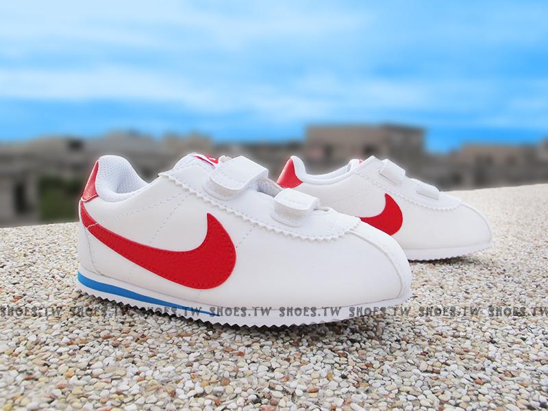 Shoestw【749489-104】NIKE CORTEZ 小童鞋 白紅 阿甘鞋