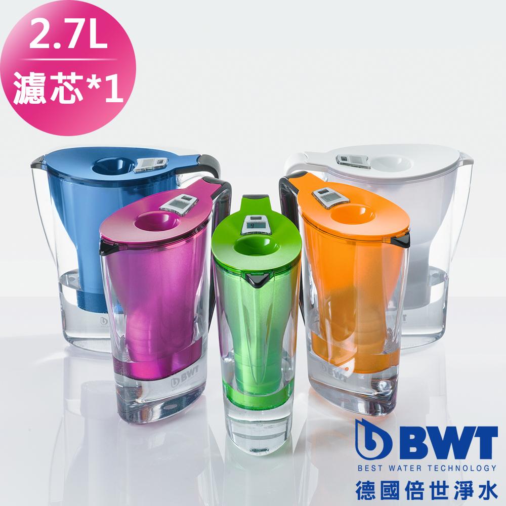 【BWT德國倍世】Mg2+鎂離子健康濾水壺Penguin 2.7L(1壺+1濾心) 三色