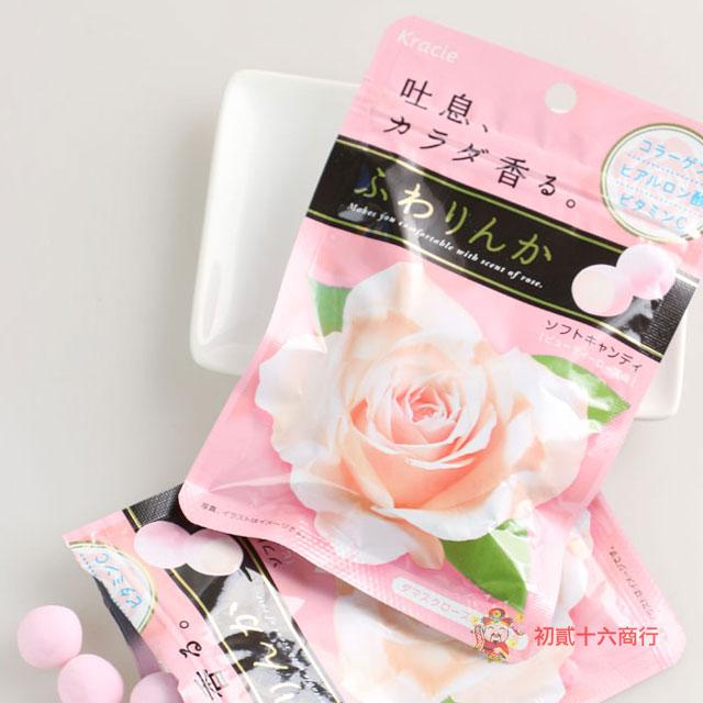 【0216零食會社】日本-Kracie玫瑰花香軟糖32g