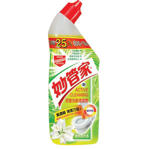 【妙管家 清潔劑】妙管家百合芳香浴廁清潔劑(750ml/瓶)