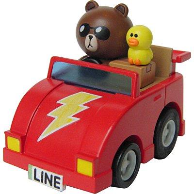 【真愛日本】14112200054 阿Q車MIX-熊大&莎莉 LINE公仔 饅頭人 兔子 熊大 小車 擺飾