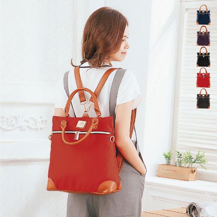 後背包 三用 女包 獨家品牌防水牛津 日本人氣熱銷款多功能手提/後背/斜背包 89.Alley ☀5色