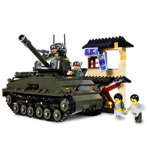 經典系列-雪曼坦克車積木組/SHERMANTANK/ 積木/ 坦克/Oxford/ DIY/ 伯寶行