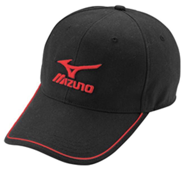 [陽光樂活] MIZUNO 美津濃 運動帽 棒球帽 老帽 大LOGO  32TW660409 黑x紅