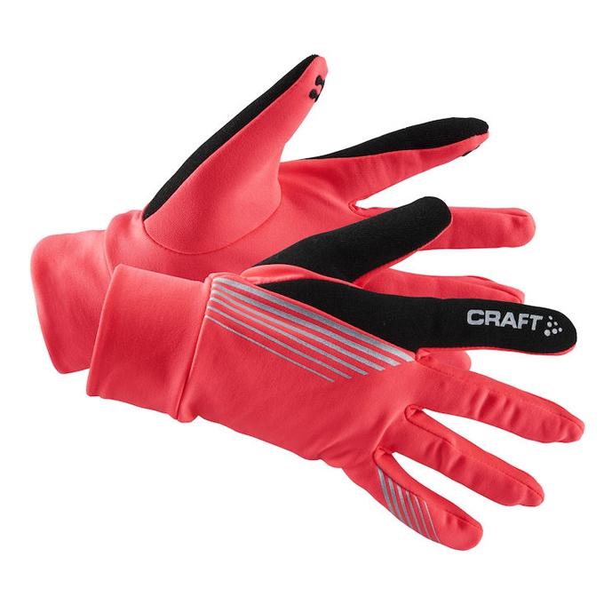 瑞典 Craft 可觸控 保暖 反光手套1903706 [桃紅] 快乾/安全/跑步/旅行/登山Brilliant Thermal glove