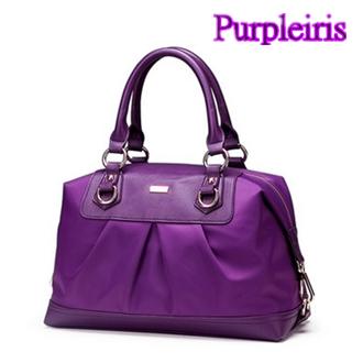 【鳶尾紫】紫色包包 紫色女包 輕便 後背包 女包 韓版時尚手提包 二側搭扣加固設計使包包 高級尼龍手感順滑 OL必備單品