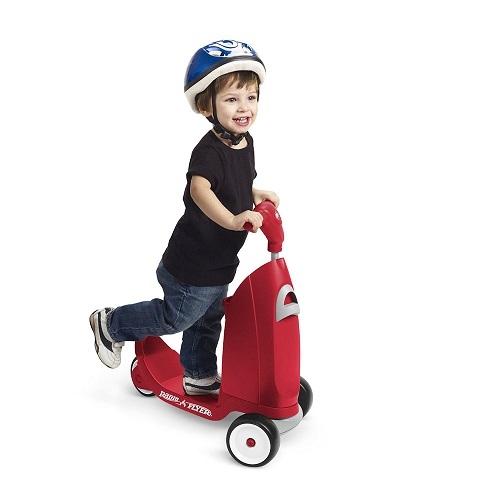 美國【Radio Flyer】小袋鼠2合1滑步滑板車