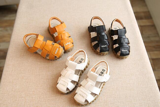 兒童真皮男童涼鞋寶寶沙灘鞋