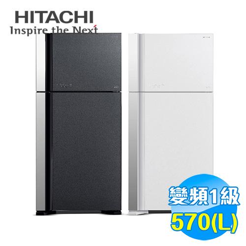 日立 HITACHI 570公升琉璃面板雙門變頻冰箱 RG599G