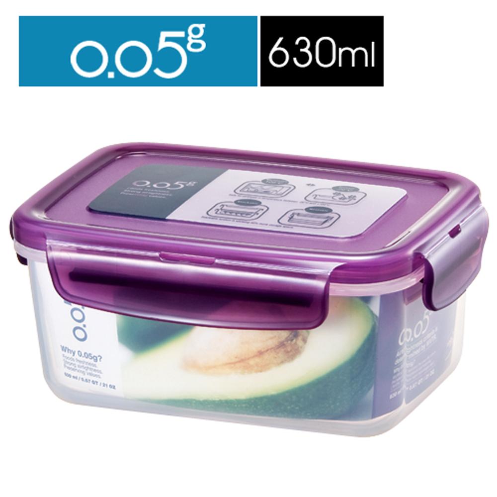 【樂扣樂扣】O.O5系列保鮮盒/長方型630ML(魅力紫)