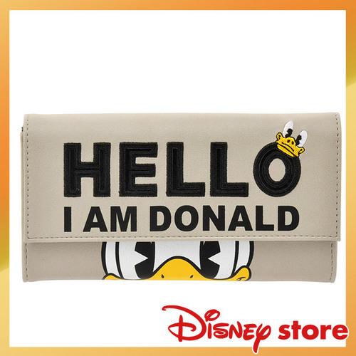 【真愛日本】16111500030專賣店皮革壓印長夾-哈囉  迪士尼  Donald Duck  唐老鴨   專賣店限定  日本帶回