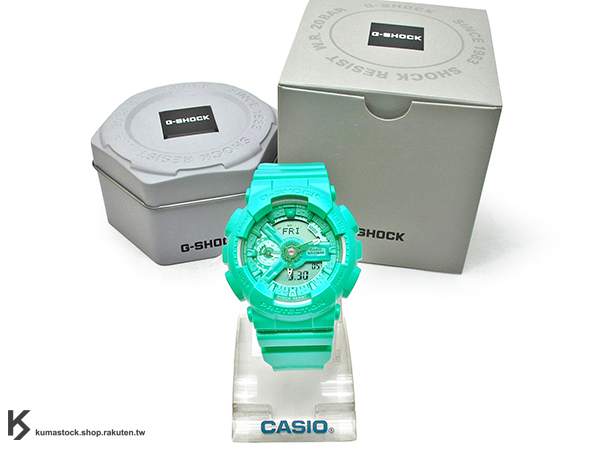 [10%OFF] kumastock 2016 最新 46mm 錶徑 貼合女性手腕曲線 CASIO G-SHOCK GMA-S110VC-3ADR BRIGHT VIVID COLOR 湖水綠 S SERIES FOR LADIES 女孩專用 !