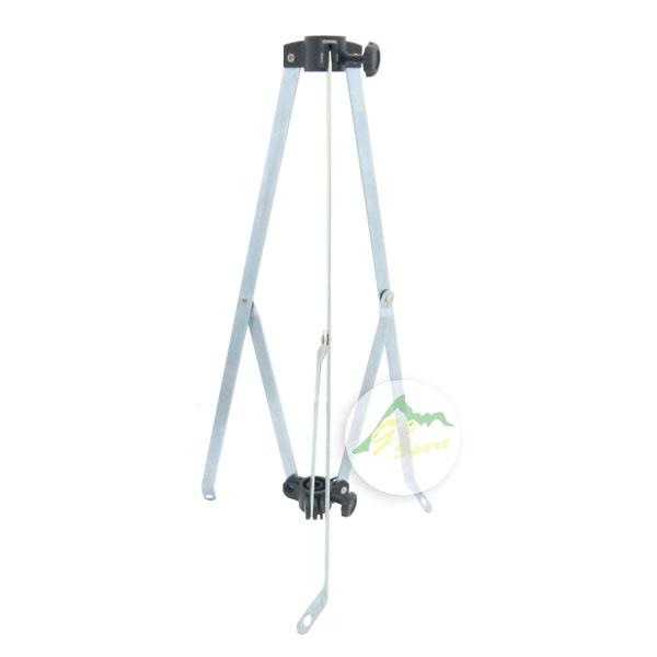 【露營趣】中和 GO SPORT 26331-S 鐵管燈架底座 露營燈柱 伸縮鋁柱 三角底座 三角燈架 固定架 腳架