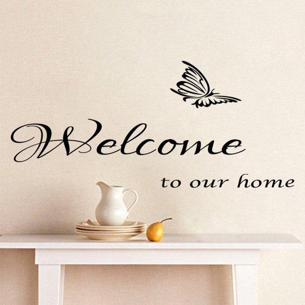 BO雜貨【YV0506】英文字母 唯美蝴蝶 居家裝潢佈置 壁貼