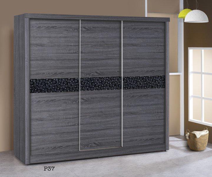 【石川家居】GH-P37 浮雕深色7X7衣櫃 (不含其他商品) 需搭配車趟