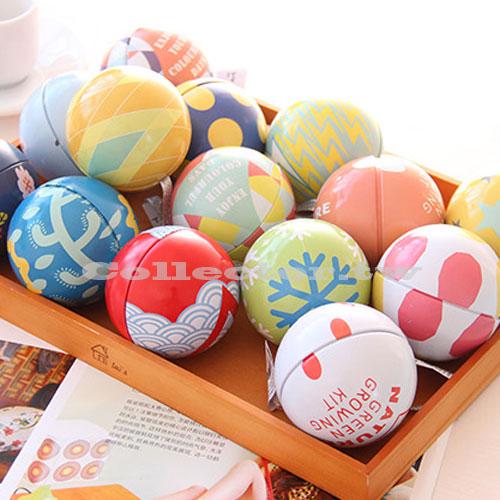 【L15031801】繽紛彩球馬口鐵盒 婚禮小物 送客禮 情人禮 收納盒 聖誕樹裝飾球