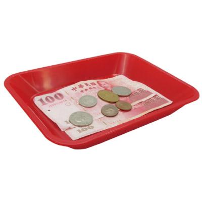 【W.I.P 韋億】JC-30小費盤/零錢盤 (長方形)  紅色 21x15cm