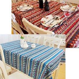波西米亞風格棉麻桌巾 / 民族風桌巾 / 蕾絲花邊 / 蛋捲桌 / 90x140 / 980 830 蛋捲桌可用
