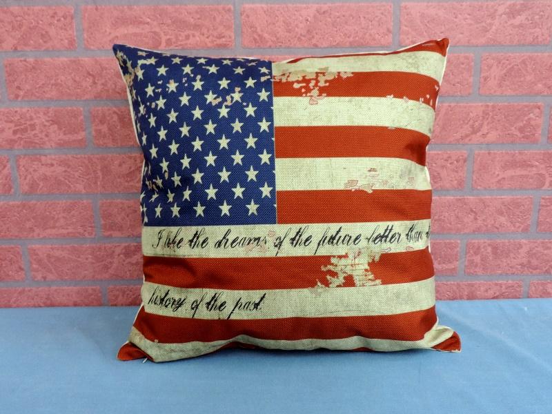 45X45棉麻沙發靠墊《LS17》另有英倫風美國國旗棉麻抱枕 車用靠枕 含枕心 居家布置◤彩虹森林◥
