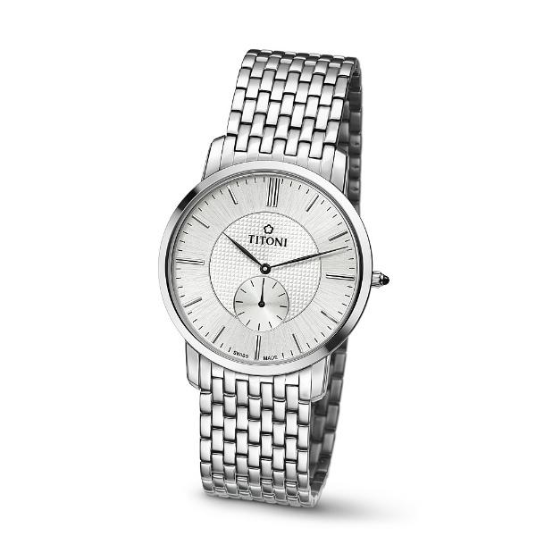 TITONI瑞士梅花錶TQ52917S-380 Slenderline系列纖薄時尚腕錶/白面38mm