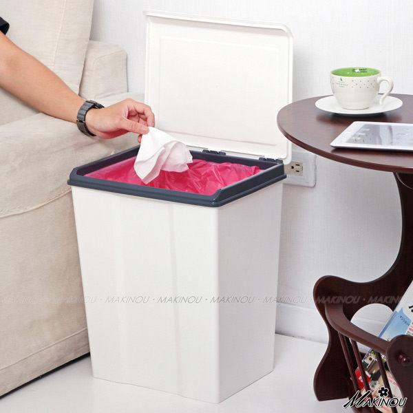 垃圾桶|日本MAKINOU-掀蓋垃圾桶-028 |MIT塑膠垃圾桶置物箱台灣製