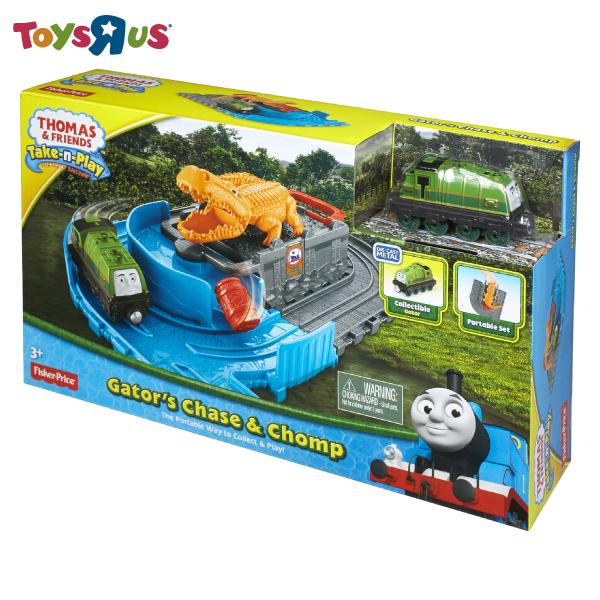 玩具反斗城 湯瑪士帶著走-高登鱷魚冒險軌道遊戲組