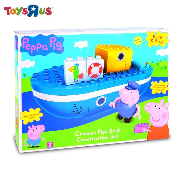 玩具反斗城  【PEPPA PIG 】粉紅豬小妹積木系列-爺爺豬的船