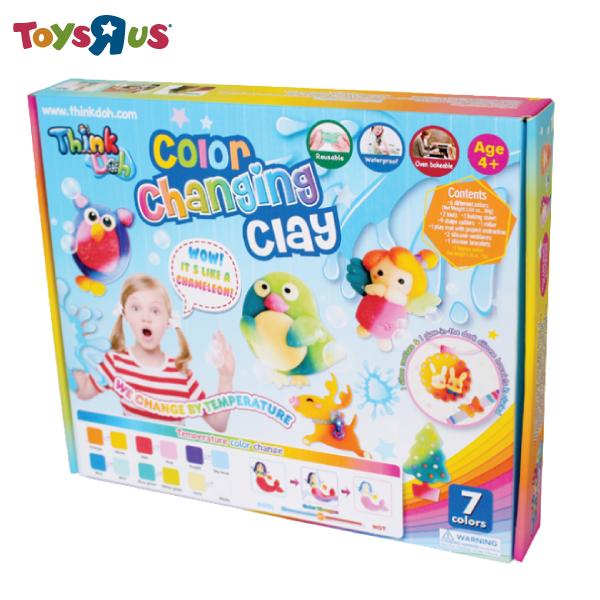 玩具反斗城  Think-Doh感溫變色7色矽膠黏土