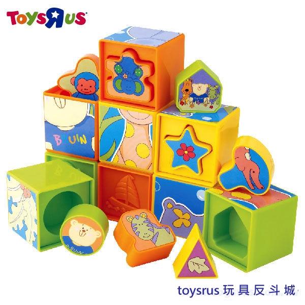 玩具反斗城 【Bruin】益智拼圖積木組