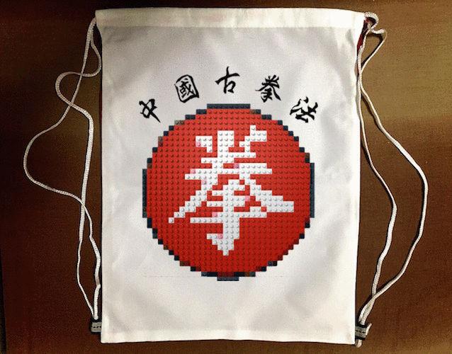 樂高版『中國古拳法』束口袋後背包 防水帆布 輕便休閒