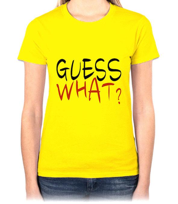 『GUESS WHAT?』HiCool機能性吸濕排汗圓領T恤