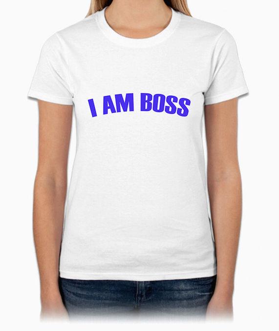 『I AM BOSS』HiCool機能性吸濕排汗圓領T恤