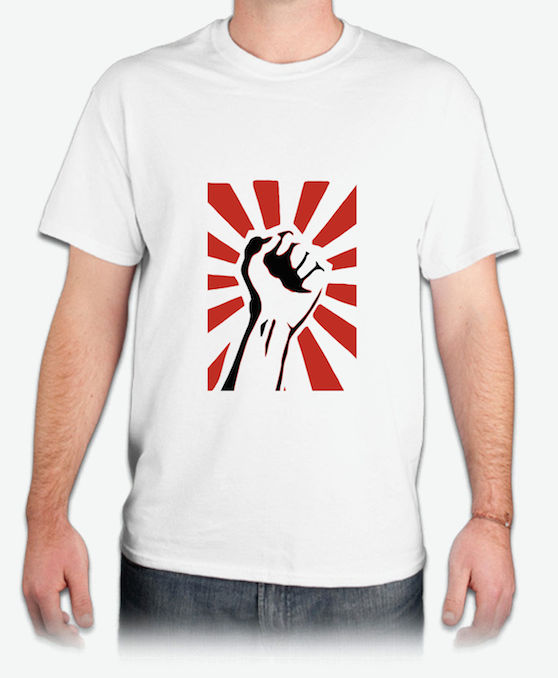 『Raised Fist』HiCool機能性吸濕排汗圓領T恤