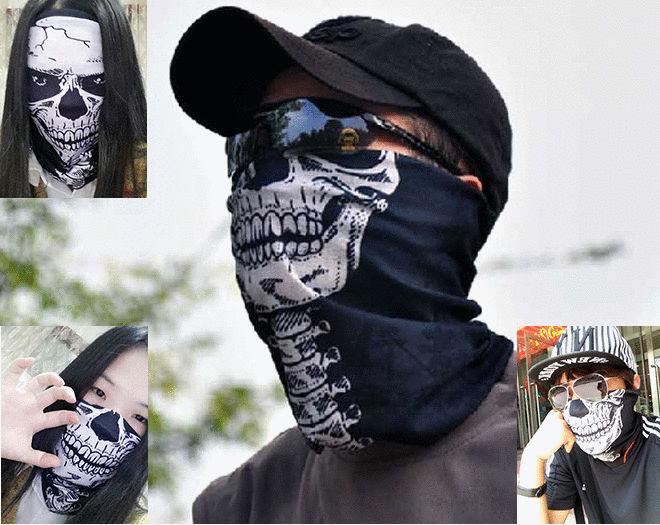 限量促銷!! 百變骷髏頭巾 魔術頭巾 輕薄免熨燙 吸濕排汗抗UV