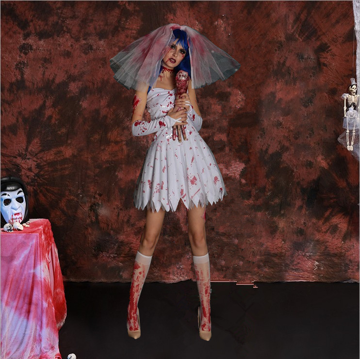 halloween吸血鬼服萬聖節服裝黑暗鬼新娘女巫公主裙cosplay殭屍
