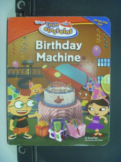 【書寶二手書T2/少年童書_NQL】Birthday Machine_Disney's_Ring