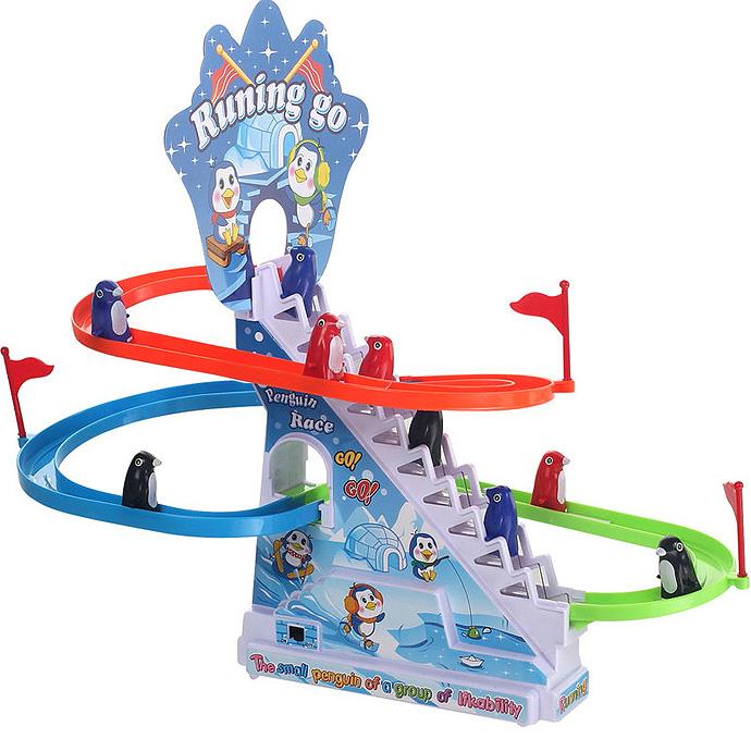 【音樂滑軌玩具】企鵝爬樓梯 5577