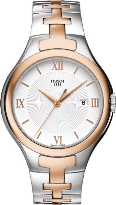 TISSOT天梭T0822102203800 T-12雙色時尚女錶/白面34*41.5mm