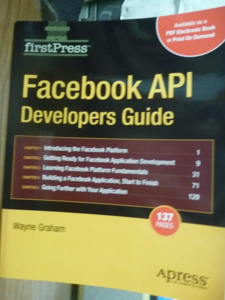 【書寶二手書T2/電腦_PHF】Facebook API Developers Guide_Graham