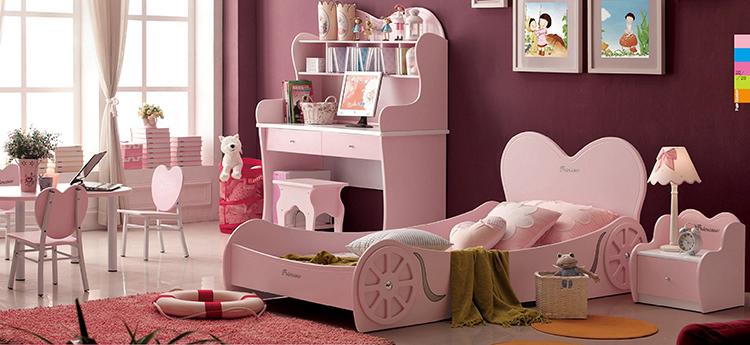 [首雅傢俬]超夢幻 愛心公主造型床來囉! 單人床 兒童床 床架 3尺